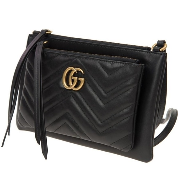 4748e9c6a2a NIB Gucci Marmont Crossbody with detachable pouch